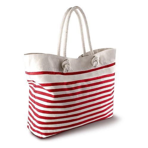 sac de plage marin rouge-écru