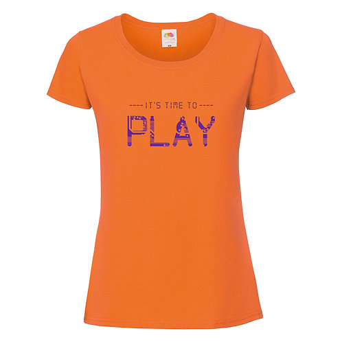 t-shirt it's time to play