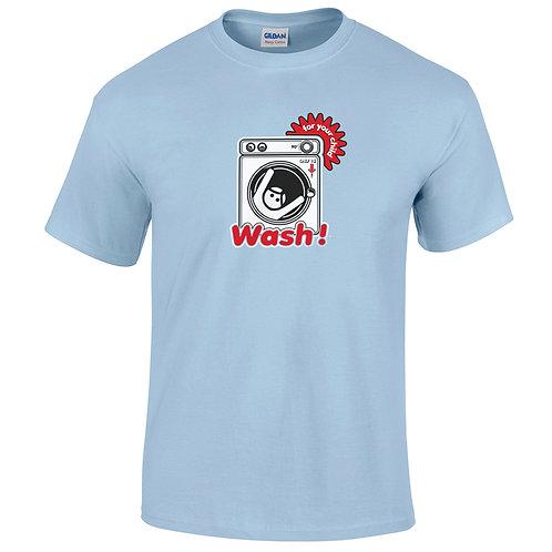 """T-shirt bleu clair """"WASH"""""""