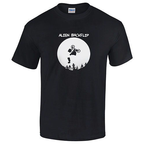 t-shirt alien backflip