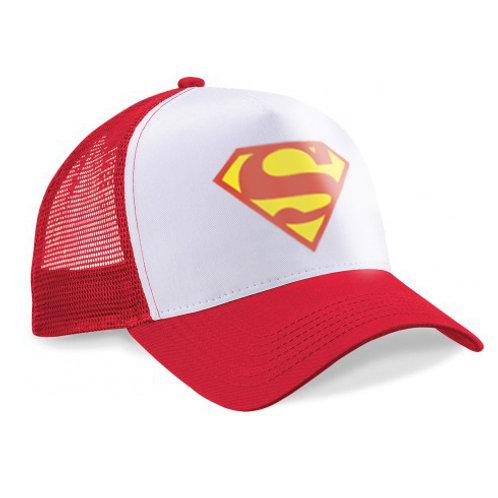"Casquette Truck blanc-rouge ""SUPERMAN"""