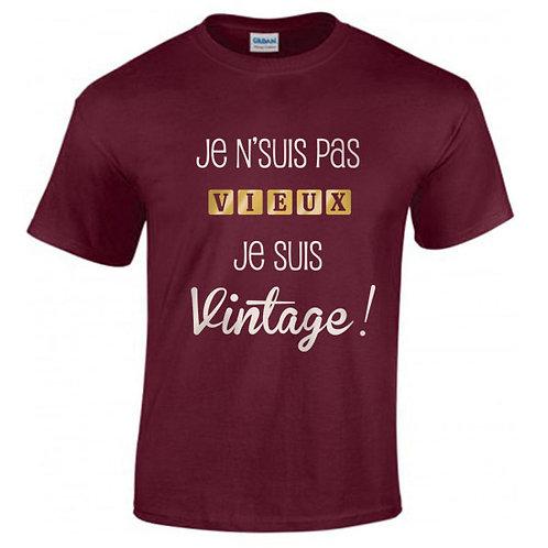 T-shirt JE NE SUIS PAS VIEUX je suis vintage