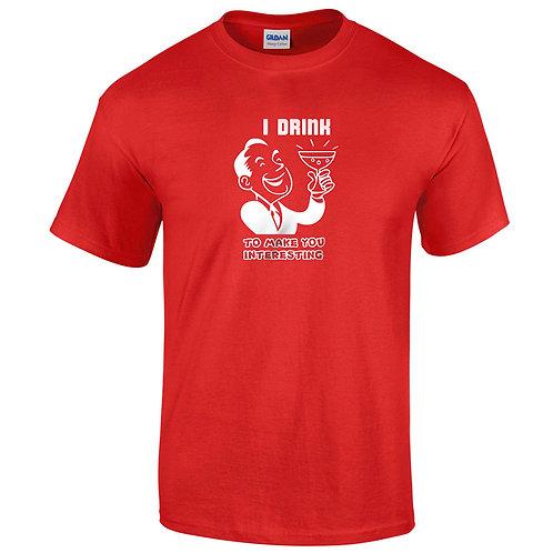 """T-shirt rouge """"I DRINK"""""""