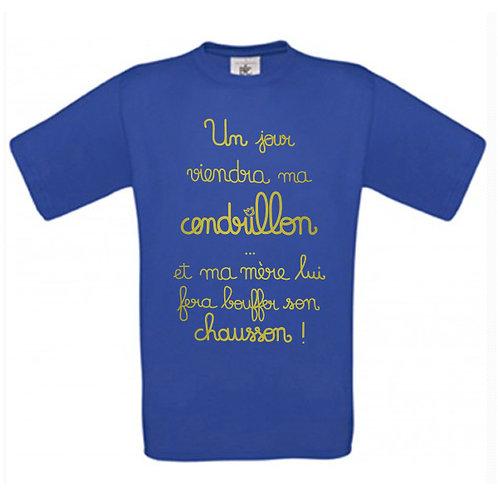 """T-shirt bleu """"CENDRILLON"""""""