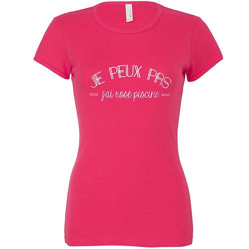 """T-shirt  coloris au choix """"JE PEUX PAS..."""""""