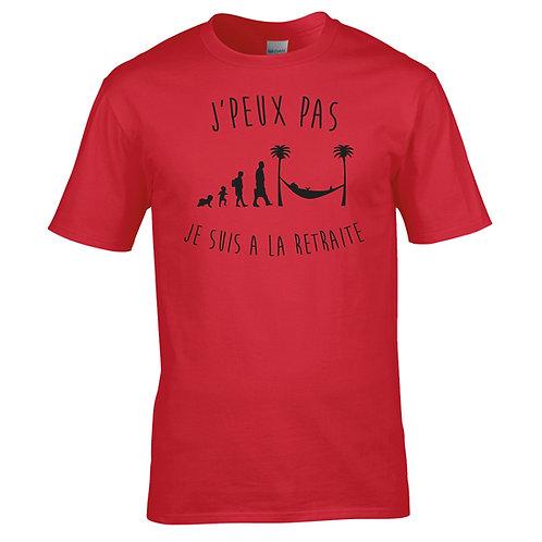 """T-shirt """"PEUX PAS RETRAITE"""""""