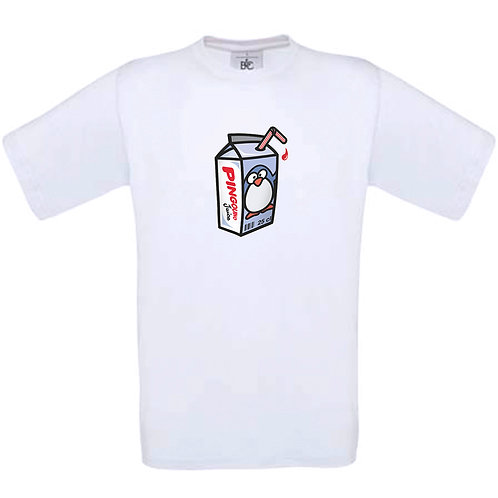 """T-shirt blanc  """" PINGOUIS JUICE  """""""