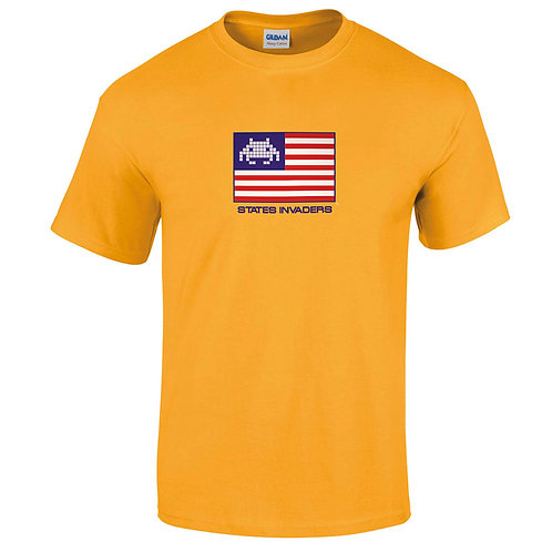 "T-shirt jaune "" STATES INVADERS  """