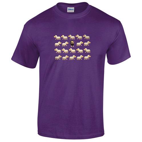 """T-shirt violet  """" MOUTON NOIR """""""