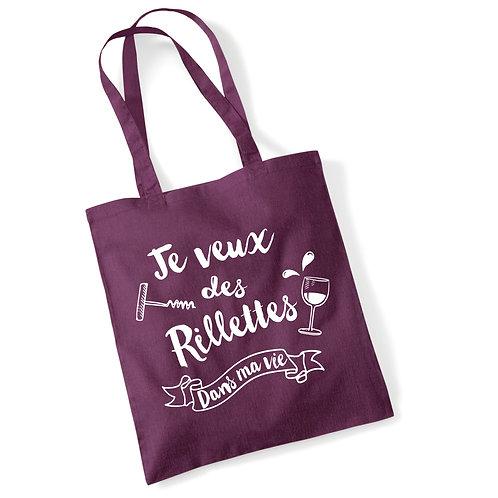 "Tote bag ""RILLETTES DANS MA VIE"""