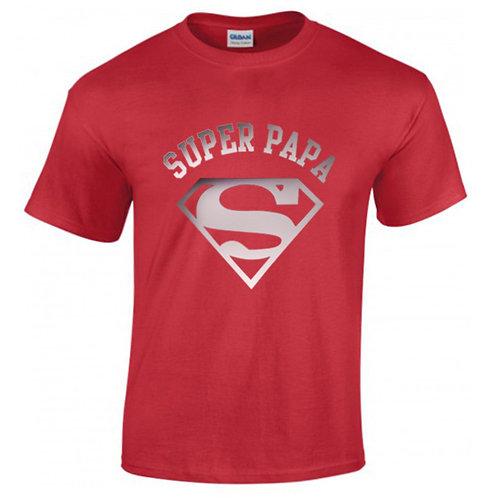 t-shirt super papa superman