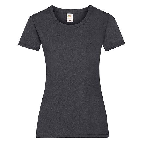 T-shirt gris chiné foncé VIERGE
