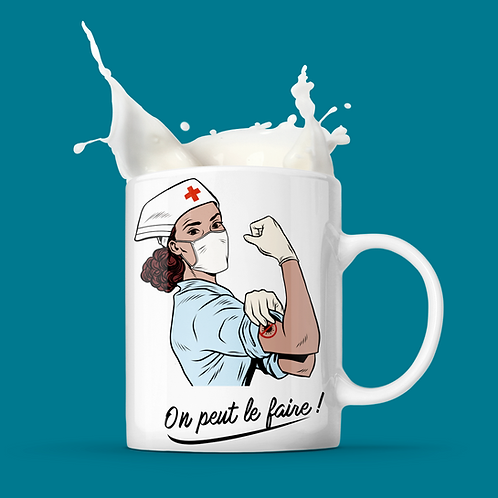 "Mug ""ON PEUT LE FAIRE"""