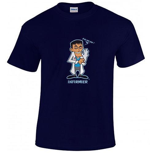 """T-shirt marine """"INFIRMIER"""""""