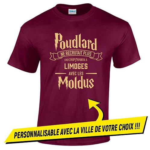 """T-shirt  Bordeaux """" Poudlard"""""""
