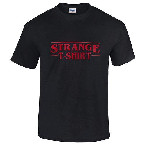 "T-shirt noir ""STRANGE T-SHIRT"""