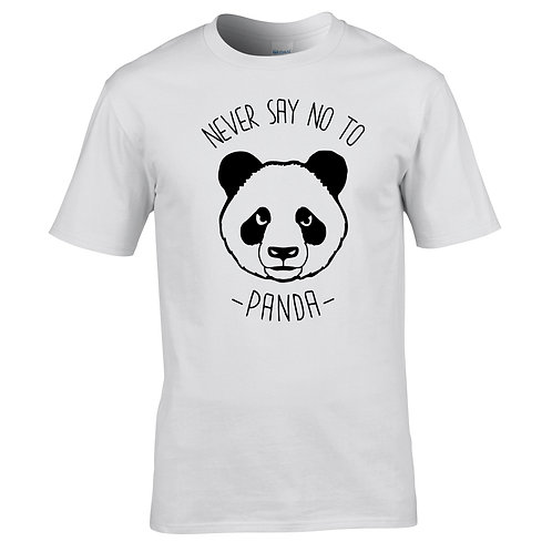 never say no to panda tee-shirt
