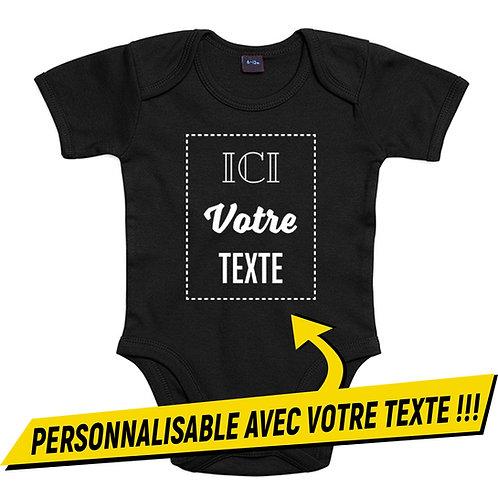 Body Bébé à personnaliser avec VOTRE TEXTE