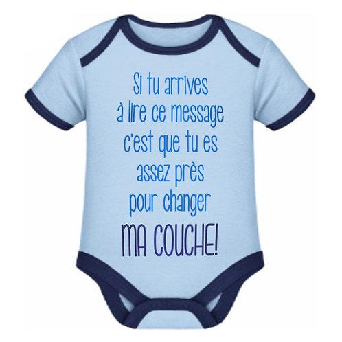 "Body bleu clair ""MA COUCHE"""