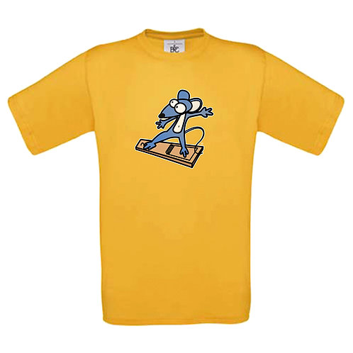 "T-shirt jaune "" SOURIS  """