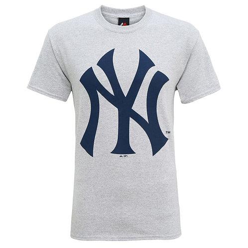 "T-shirt gris clair vierge ""N Y"""