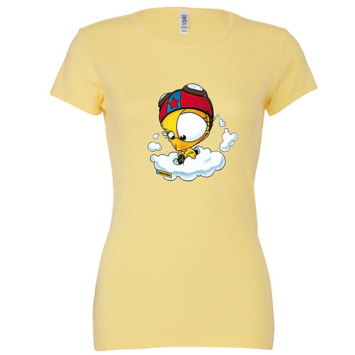 "T-shirt jaune ""POUIC POUIC"""