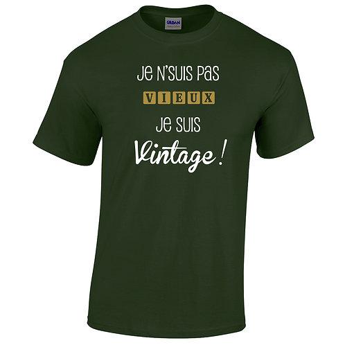 je suis pas vieux je suis vintage t-shirt