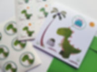 Inviti, stickers e accessori feste dinosauri