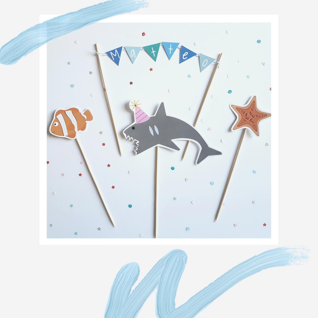 Cake topper Baby  Shark.png