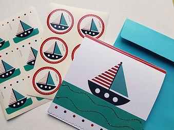 Inviti, stickers e accessori personalizzati Blu Marine