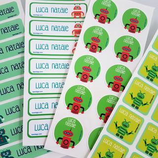 Etichette personalizzate per la Scuola, Nido e Asilo