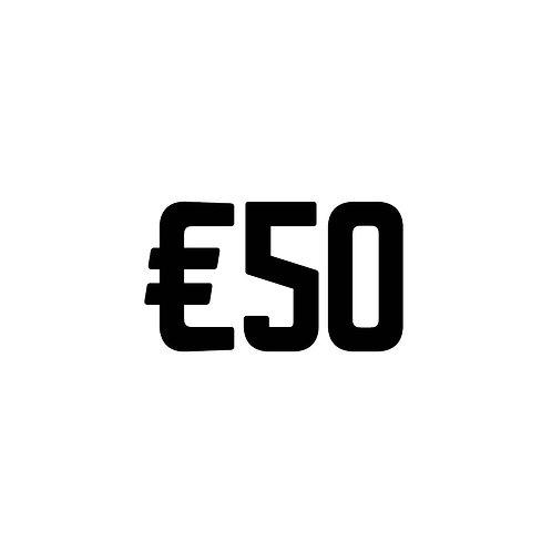 Virtual Tip Jar: €50