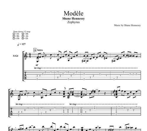 Tab: Modèle (PDF)