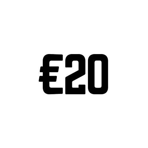 Virtual Tip Jar: €20