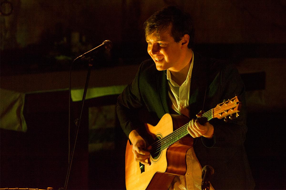 Shane at Newman Uni. Church, Dublin