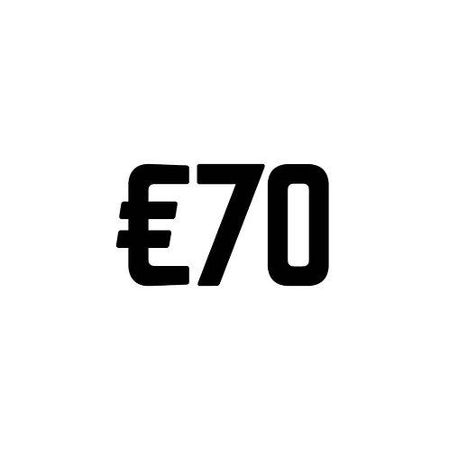 Virtual Tip Jar: €70