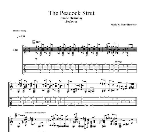 Tab: The Peacock Strut (PDF)