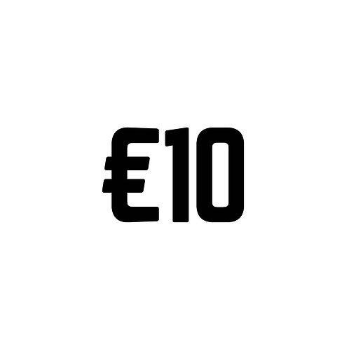 Virtual Tip Jar: €10