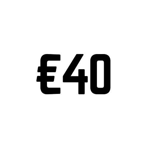 Virtual Tip Jar: €40