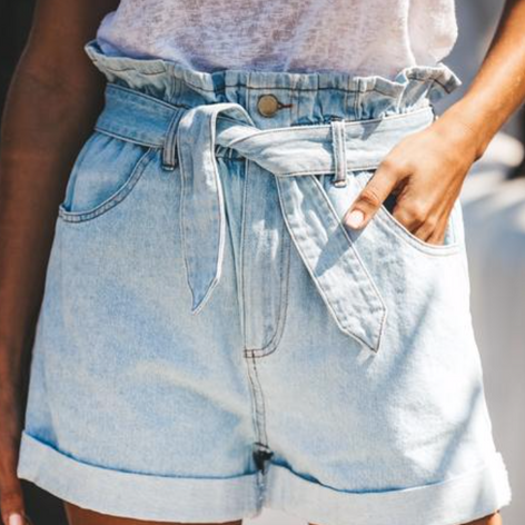 Delilah Paper Bag Waist Shorts