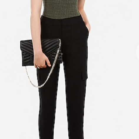 Mid rise Pill-on Utility Ankle Pant
