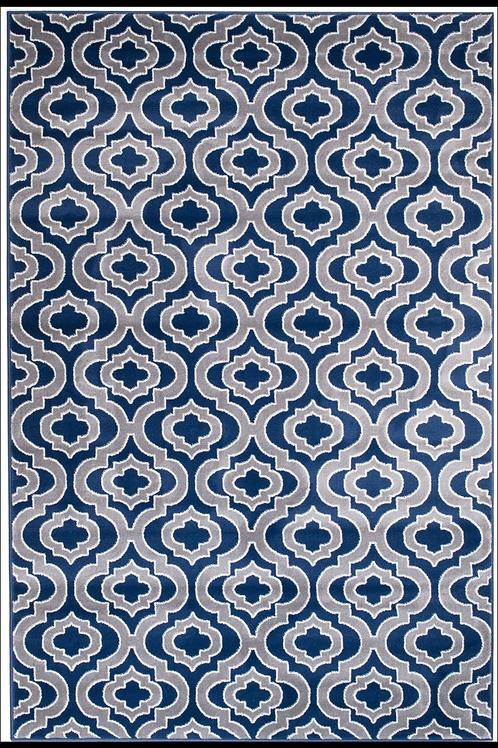 Trellis blue and grey