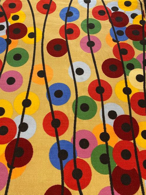 Kids rug/ colorful disks