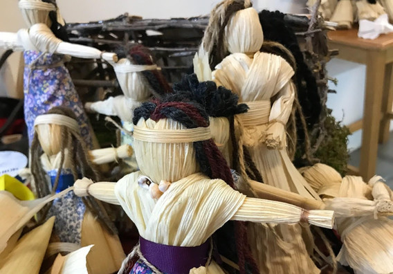 Corn Husk Dolls Workshop at our Carriage House