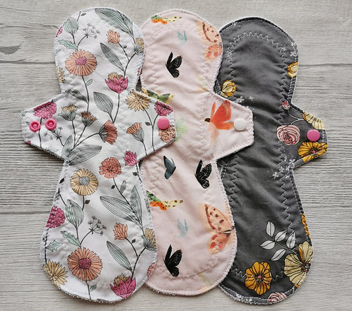 PU set 24cm, flowes and butterflies, model moderate