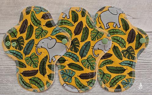Set 3 PU dnevna curvy, slonići