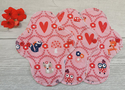 Set 3 PU dnevna curvy, owls and hearts
