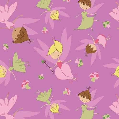 Purple fairy flanel