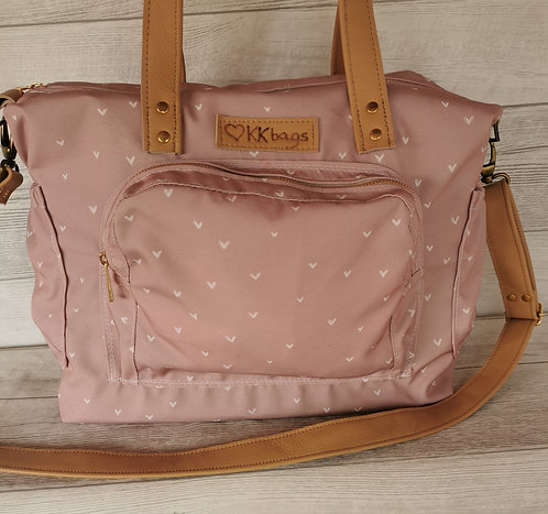 Torba recycled canvas 3u1, PINK HEARTS