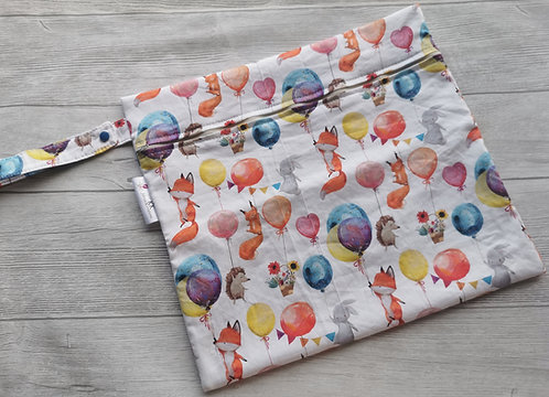 Wetbag animals with baloons